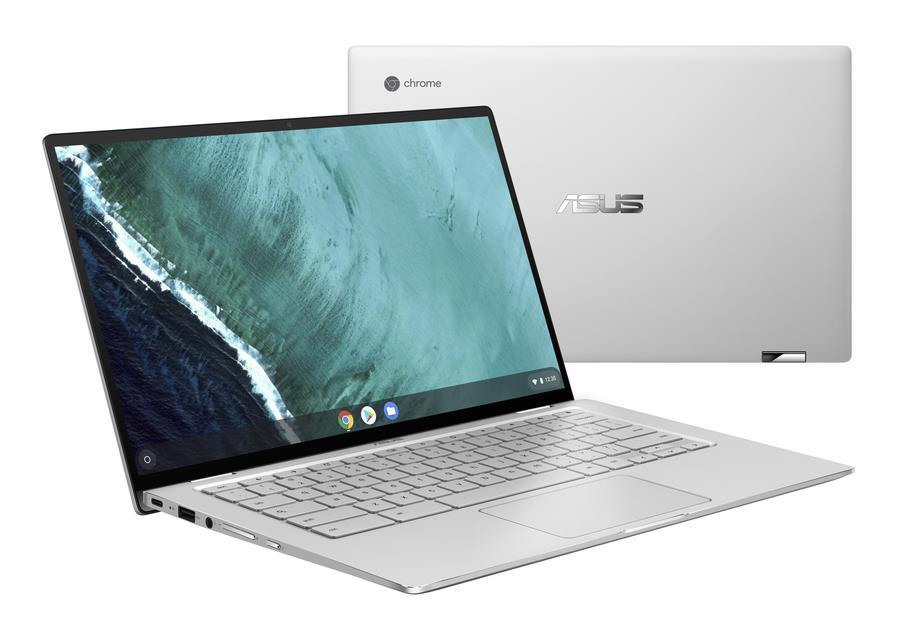 "ASUS Chromebook Flip C434TA-AI0110 Zilver 35,6 cm (14"") 1920 x 1080 Pixels Touchscreen Intel® 8ste generatie Core™ i5 i5-8200Y 8 GB LPDDR3-SDRAM 64 GB eMMC"