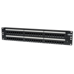 Tripp Lite 48-Port 2U Rack-Mount Cat6/Cat5 110 Patch Panel, 568B, RJ45 Ethernet