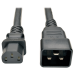 Tripp Lite Heavy-Duty Power Cord for PDU, 15A, 12 AWG (IEC-320-C13 to IEC-320-C20), 0.91 m
