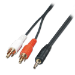 Lindy 35681 audio cable 2 m 3.5mm 2 x RCA Black, Red, White
