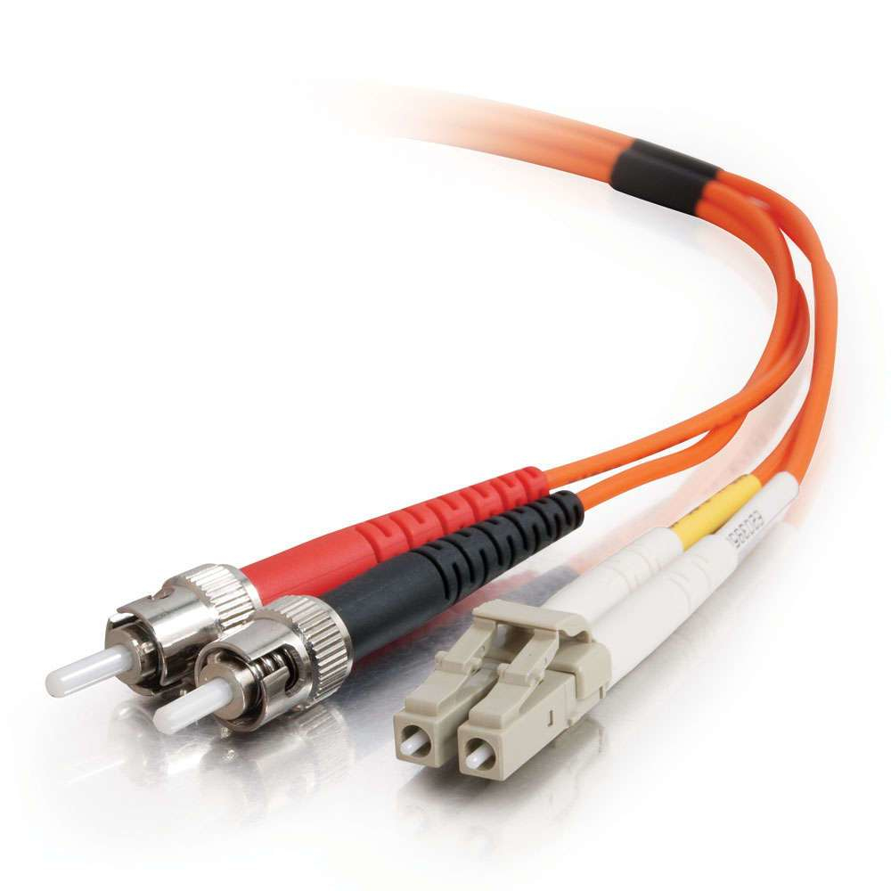 C2G 2m LC/ST LSZH Duplex 62.5/125 Multimode Fibre Patch Cable