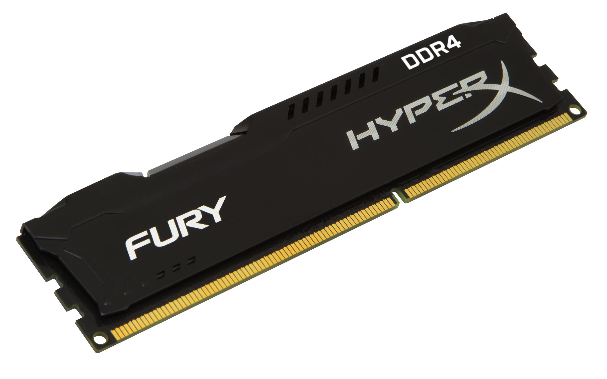 HyperX FURY Memory Black 4GB DDR4 2400MHz Module 4GB DDR4 2400MHz memory module