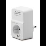 APC SurgeArrest surge protector 1 AC outlet(s) 230 V White