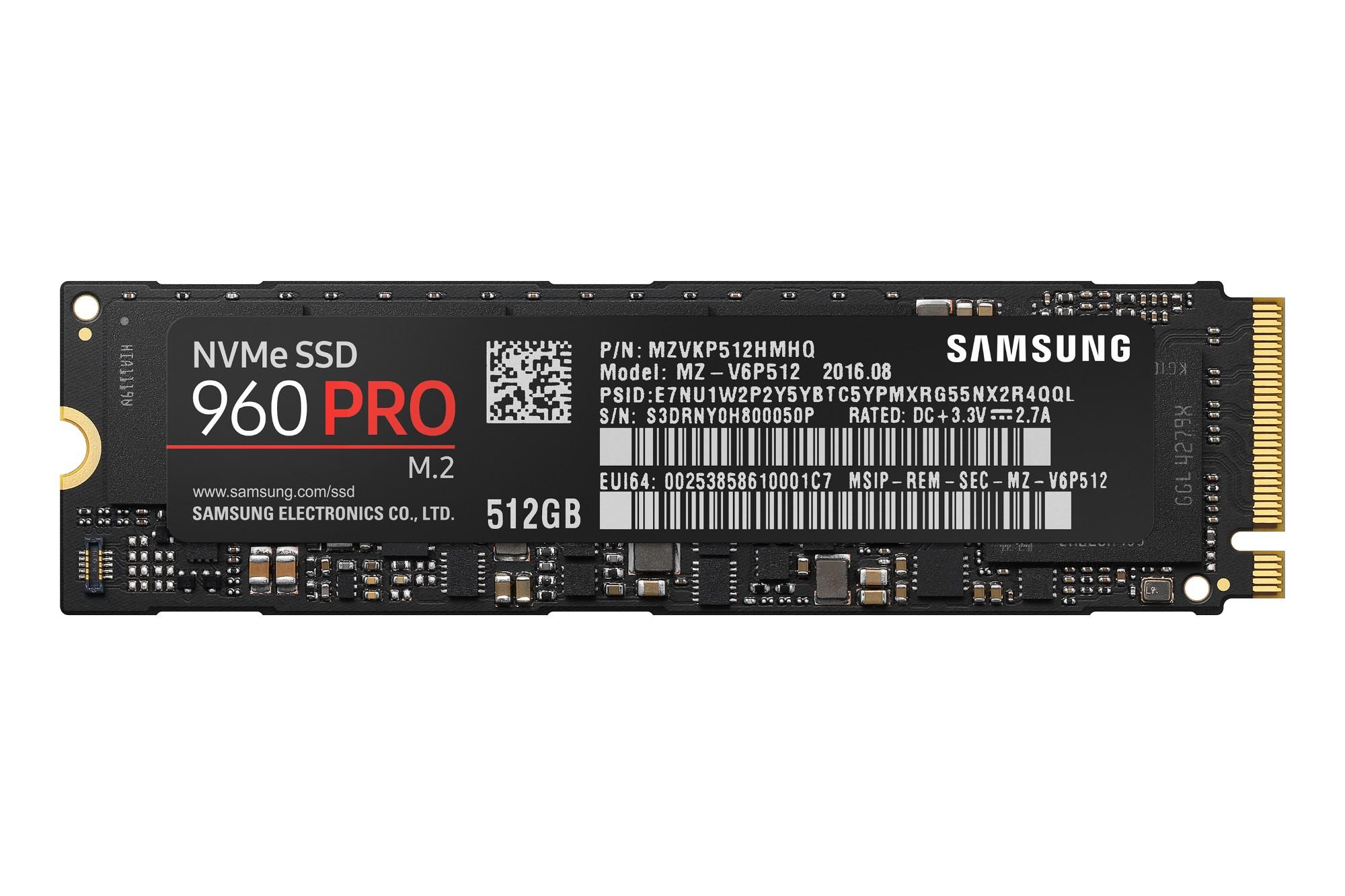 SSD - 960 Pro Series - 512GB - M.2 - Pci-e