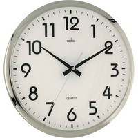 Acctim ORION SILENT WALL CLOCK CHRM/WHT