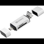 Sandberg USB-C+USB+MicroUSB card reader
