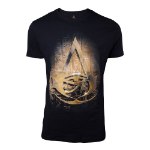 ASSASSIN'S CREED Origins Men's Hieroglyph Crest T-Shirt, Large, Black (TS331020ACE-L)
