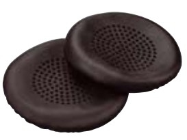 Plantronics 89107-01 headphone pillow Black Leatherette 2 pc(s)