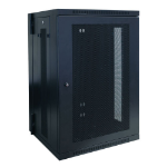Tripp Lite 18U SmartRack Low-Profile Wall-Mount Rack Enclosure Cabinet, Switch-Depth, Hinged Back
