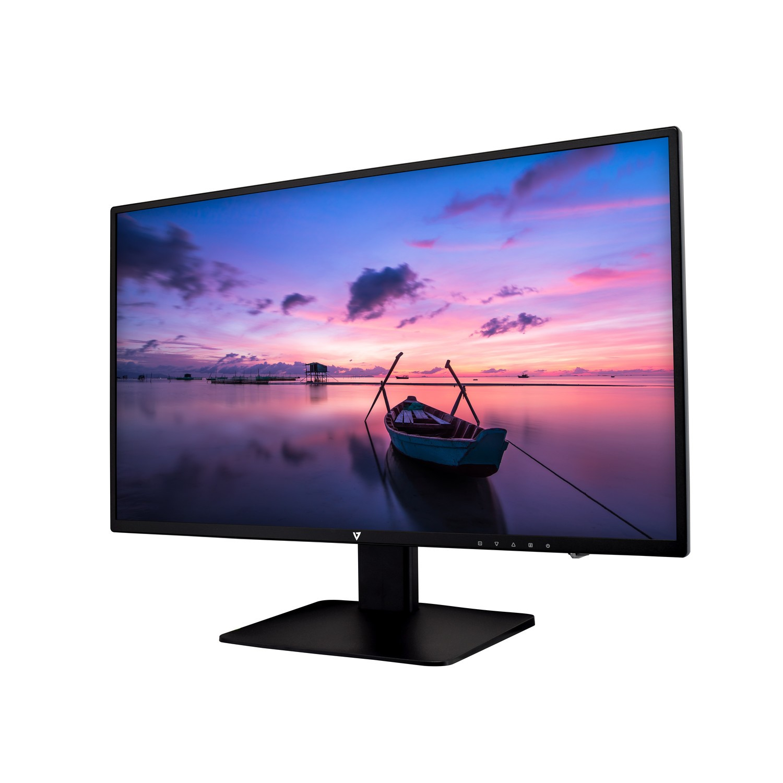 "V7 L238E-2K computer monitor 60.5 cm (23.8"") Full HD LED Flat Matt Black"