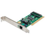 Intellinet Gigabit PCI Network Card, 32-bit 10/100/1000 Mbps Ethernet LAN, RJ45, PCI Card