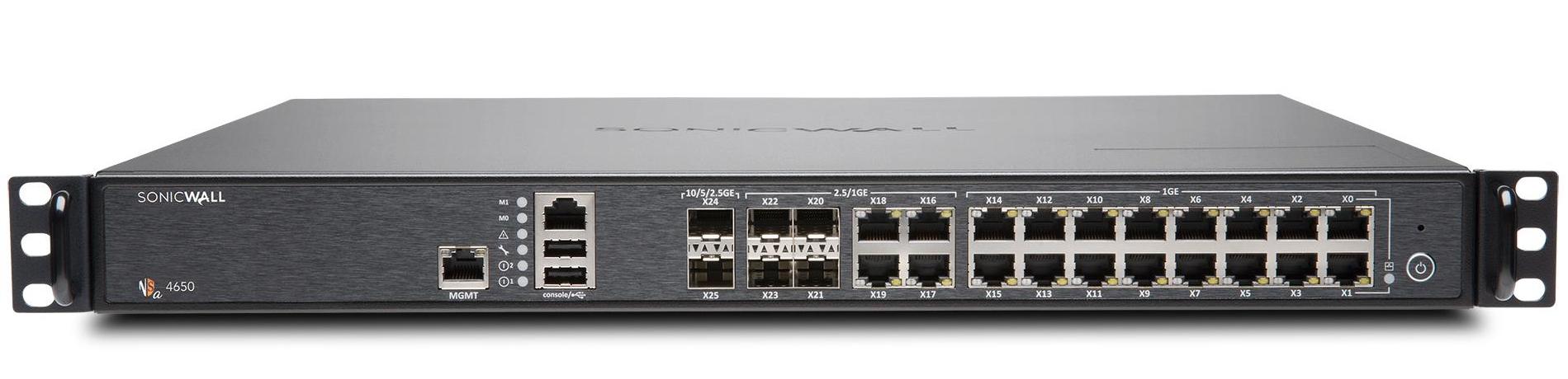 SonicWall NSA 4650 cortafuegos (hardware) 1U