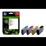 HP 364 Origineel Zwart, Cyaan, Magenta, Geel Multipack