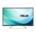 "ASUS VA326H computer monitor 80 cm (31.5"") Full HD Gebogen Mat Zwart"