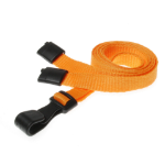 Digital ID 10mm rPET Plain Orange Lanyards with Plastic J Clip (Pack of 100)