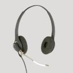 JPL 602PB Binaural Head-band Black headset