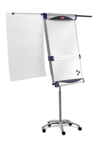 Nobo Classic Steel Mobile Magnetic Flipchart Easel with Extending Arms