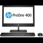 """HP ProOne 400 G4 50,8 cm (20"""") 1600 x 900 Pixeles 8ª generación de procesadores Intel® Core™ i3 4 GB DDR4-SDRAM 500 GB Unidad de disco duro Negro PC todo en uno Windows 10 Pro"""