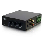 C2G 40880 audio amplifier Home Black