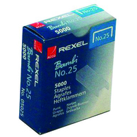 Rexel No. 25 (6/4) Staples (5000)