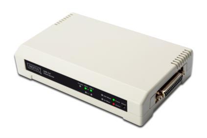 Digitus DN-13006-1 servidor de impresión Blanco LAN Ethernet