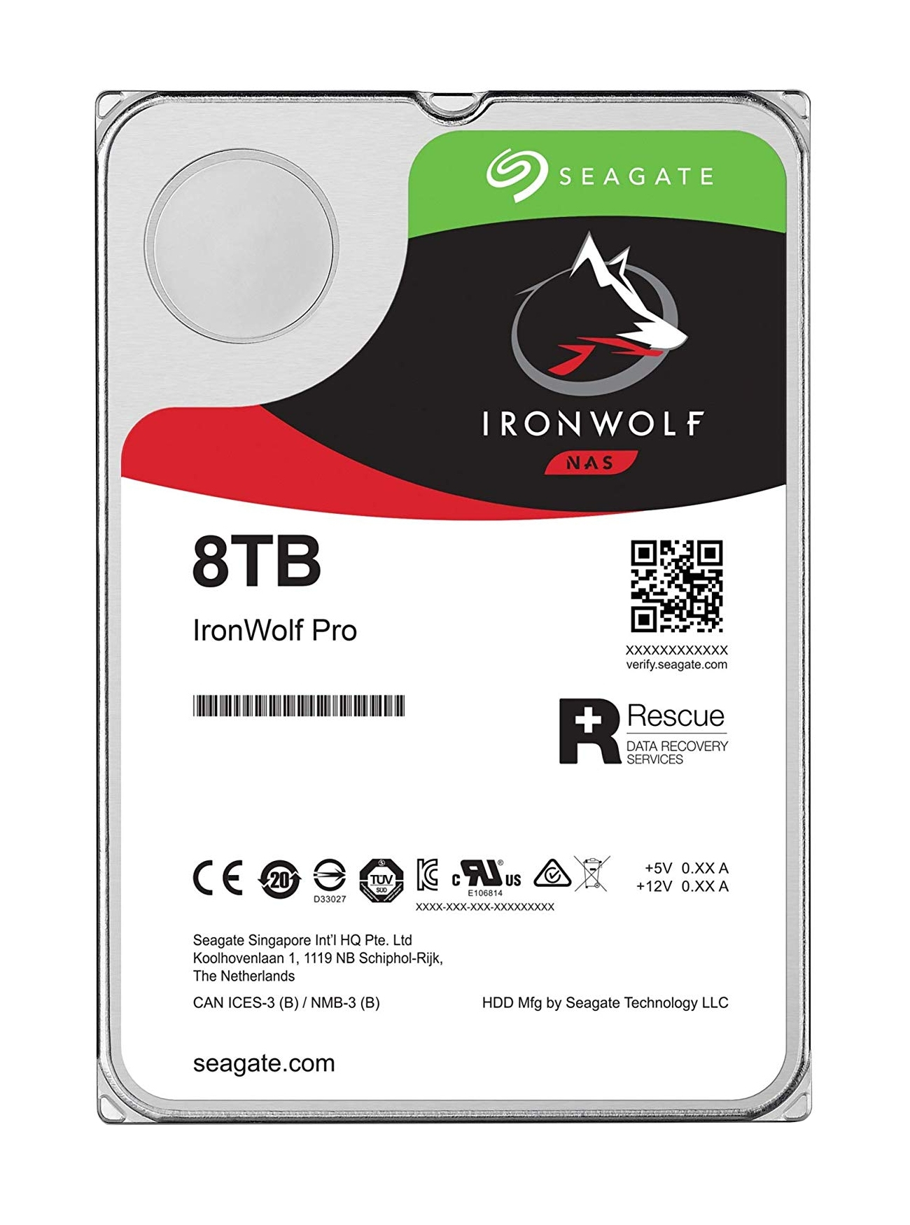 "Seagate IronWolf Pro ST8000NE001 disco duro interno 3.5"" 8000 GB Serial ATA III"