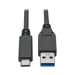 Tripp Lite USB Type-C to USB Type-A Cable, 3.1, 10 Gbps, Gen 2, M/M, USB-IF Certified, Thunderbolt 3, 0.91 m