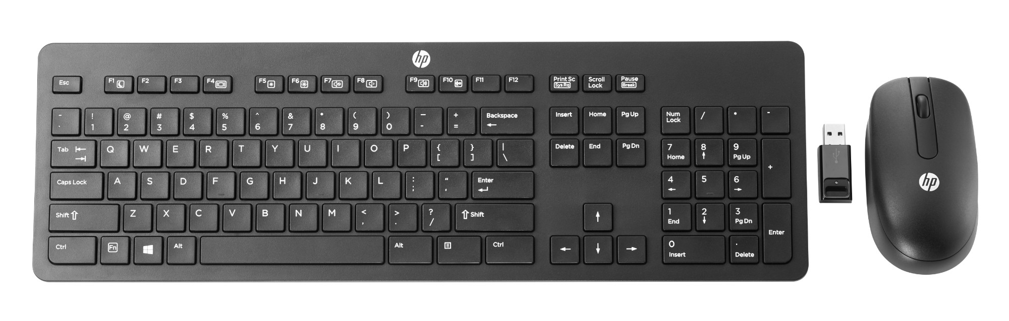 HP Wireless Business Slim Keyboard and Mouse Qwerty intl