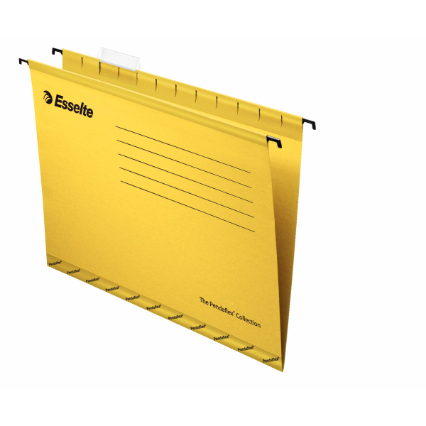 Esselte Pendaflex Economy Suspension File Foolscap Yellow 25-pk