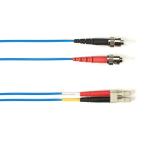 """Black Box FOLZH10-003M-STLC-BL fiber optic cable 118.1"""" (3 m) LSZH OM3 ST LC Blue"""
