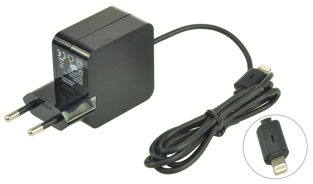 2-Power 2.1A Fixed Lead EU Plug AC Adapter