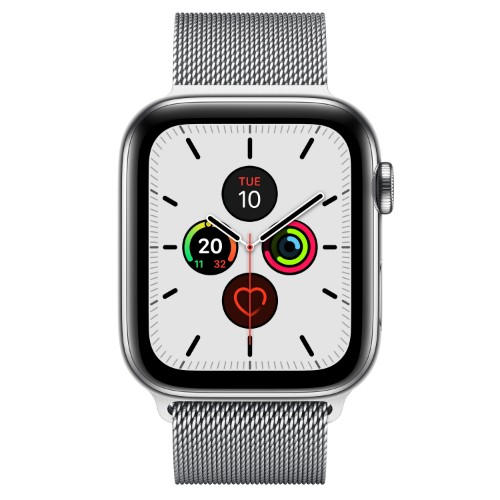 Apple Watch Series 5 smartwatch Stainless steel OLED Cellular GPS (satellite)