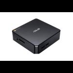 ASUS Chromebox CHROMEBOX3-N008U PCs/estación de trabajo 7ª generación de procesadores Intel® Core™ i3 i3-7100 4 GB DDR4-SDRAM 64 GB SSD Mini PC Negro Chrome OS