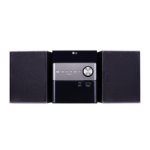 LG CM1560 Micro set 10W Negro sistema de audio para el hogar