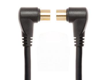 Techlink WiresNX2, Coax, M/F 3m Black coaxial cable