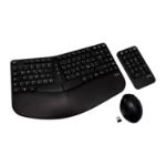 V7 Ergonomic Wireless Keyboard, Mouse, and Keypad Combo