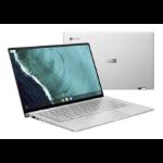 "ASUS Chromebook Flip C434TA-AI0109 notebook Silver 35.6 cm (14"") 1920 x 1080 pixels Touchscreen 8th gen Intel® Core™ i5 8 GB LPDDR3-SDRAM 64 GB eMMC Wi-Fi 5 (802.11ac) Chrome OS"