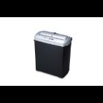 Ednet S7CD paper shredder Strip shredding 22 cm Black, Silver