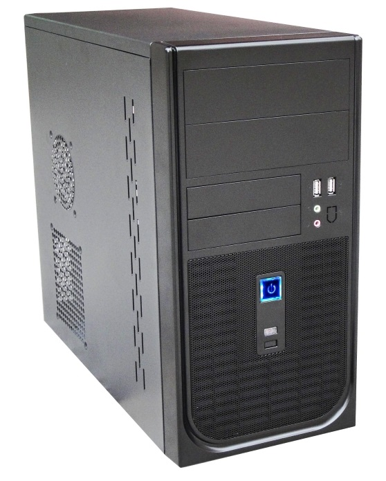 "202 Matx Builder""s Case With 500w Max Psu. 24pin Atx, 8pin Eps, 1x Usb3+1x Usb2, Hd Front"