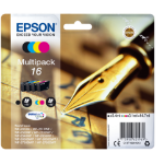 Epson C13T16264012 (16) Ink cartridge multi pack, 175pg + 3x165pg, 1x5.4ml + 3x3.1ml, Pack qty 4