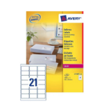 Avery L7160-250 addressing label White Self-adhesive label