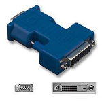 Belkin F2E4261 15-pin HD-15 (M) 24-pin DVI-I (F) Blue cable interface/gender adapter