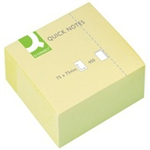 Q-CONNECT Q CONNECT QUICK NOTE CUBE 76X76MM YELLOW