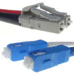 Computer Gear LC/SC, 9/125, 10m fiber optic cable Yellow