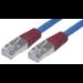 MCL 3m Cat5e F/UTP cable de red Azul