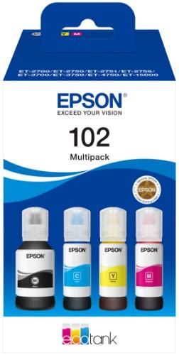 Epson C13T03R640 (102) Ink cartridge multi pack, 127ml + 3x70ml, Pack qty 4