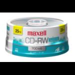 Maxell 630026 blank CD CD-RW 700 MB 25 pcs