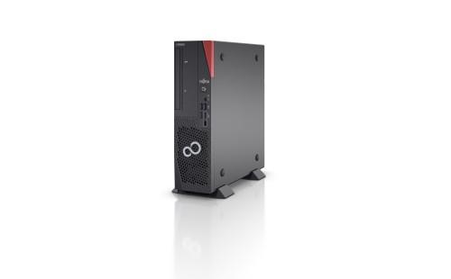 Fujitsu ESPRIMO D7010 DDR4-SDRAM i5-10400 SFF 10th gen Intel® Core™ i5 8 GB 256 GB SSD Windows 10 Pro Mini PC Black, Red