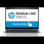 "HP EliteBook x360 1040 G5 Black,Silver Hybrid (2-in-1) 35.6 cm (14"") 1920 x 1080 pixels Touchscreen 8th gen Intel® Core™ i5 8 GB DDR4-SDRAM 256 GB SSD Wi-Fi 5 (802.11ac) Windows 10 Pro"
