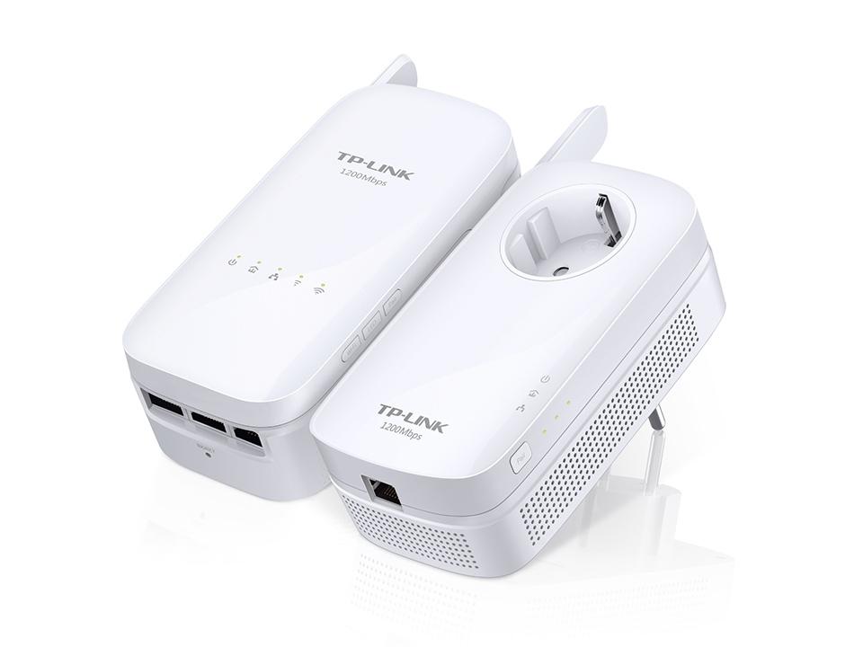 TP-LINK AV1200 1200Mbit/s Ethernet LAN Wi-Fi White 2pc(s) PowerLine network adapter